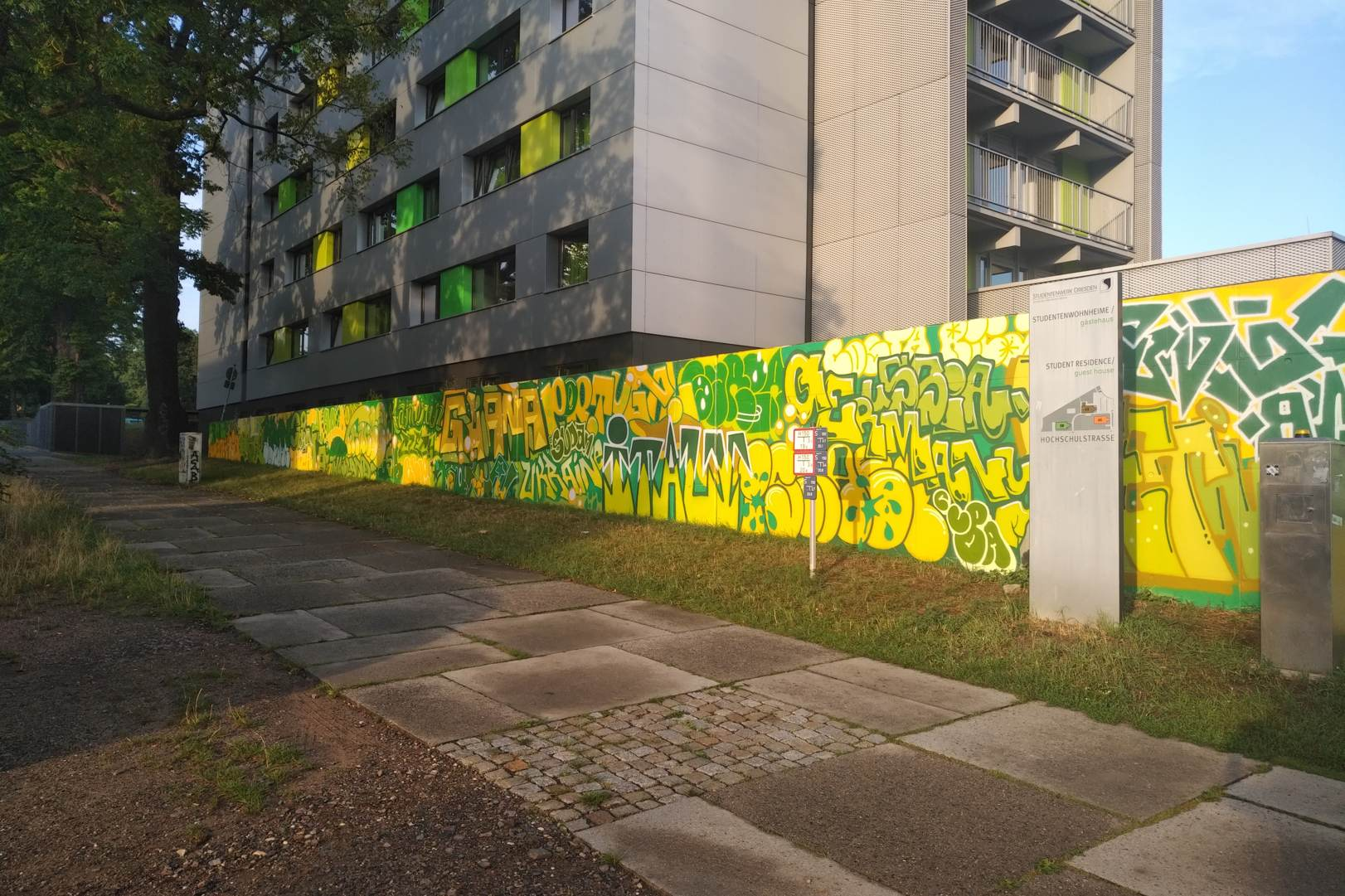 Foto: Graffit-Kunst am IGH
