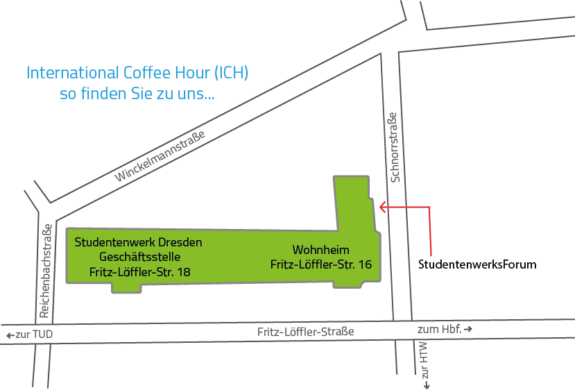Wegbeschreibung zur International Coffee Hour