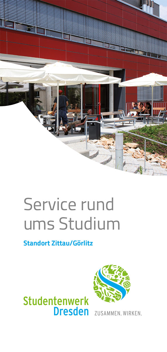 "Cover Flyer ""Office Branch Zittau/Görlitz Student Services"""