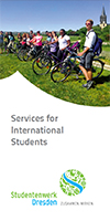 "Cover des Faltblatts ""Services for International Students"""