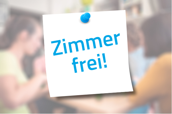 A note with the words 'Zimmer frei!'