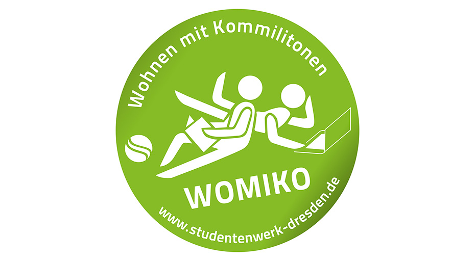 the green logo of womiko